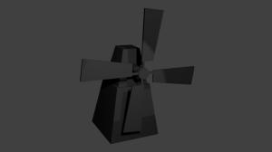 3d model van molen gemaakt in Unity